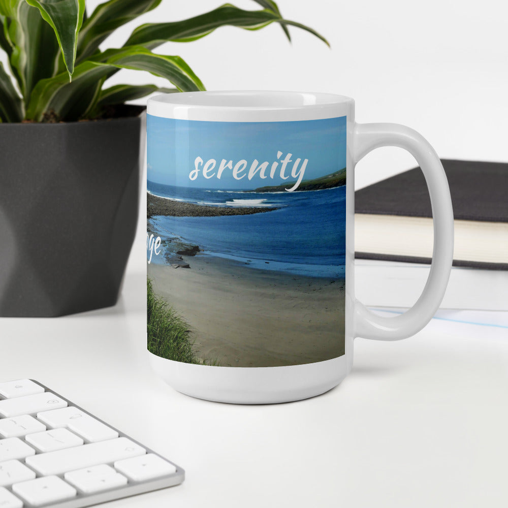Island Time Mug - Serenity/courage/wisdom, Skara Brae beach
