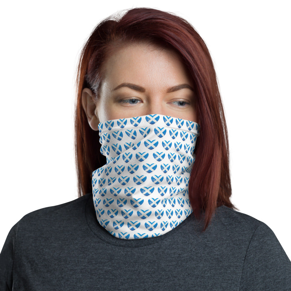 Neck Gaiter Mask - Scottish Flag Hearts