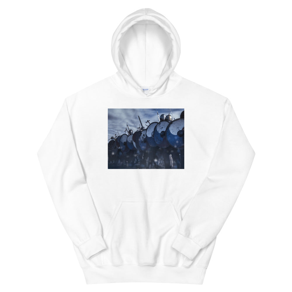 "Viking Warriors with Shields - ""Viking Strong"" Unisex Hoodie"