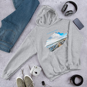 "Orkney Islands Hoodie - ""I'd rather be in Orkney"" Beach Scene"