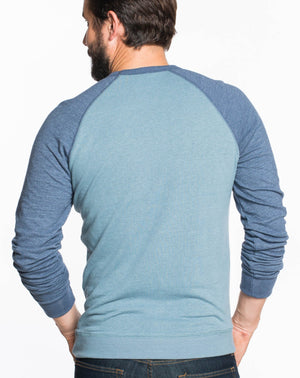 Double Knit Raglan - Maritime Grey and Navy