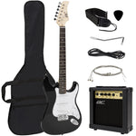 39in Beginner Electric Guitar Kit w/ Case, 10W Amp, Tremolo Bar