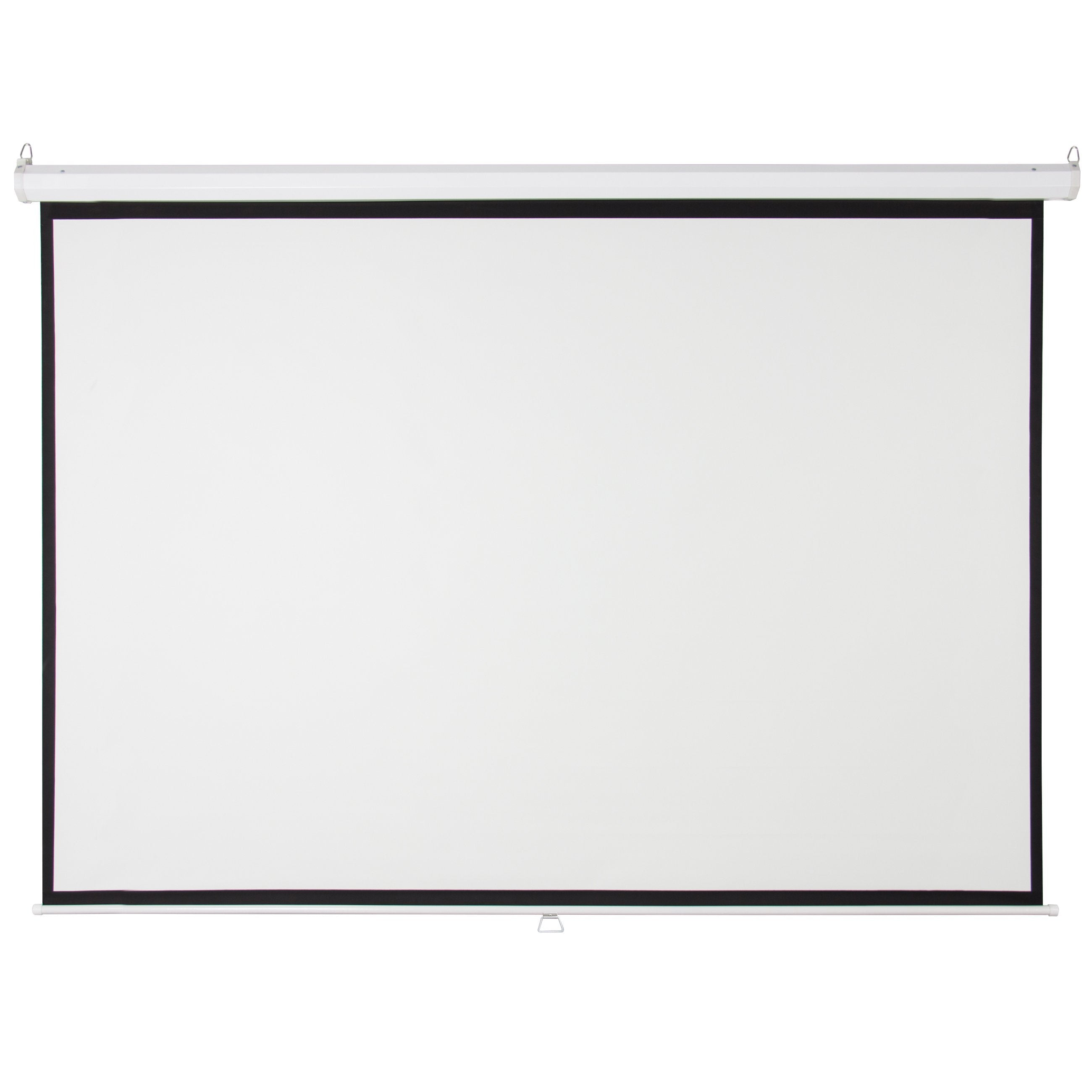 119in HD Pull Down Manual Projector Screen - White