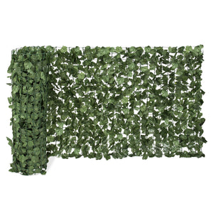 94x39in Outdoor Faux Ivy Privacy Screen Fence - Green