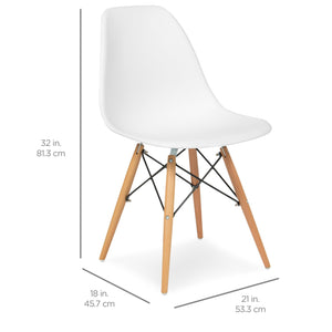 Set of 2 Eames Dining Chairs - White