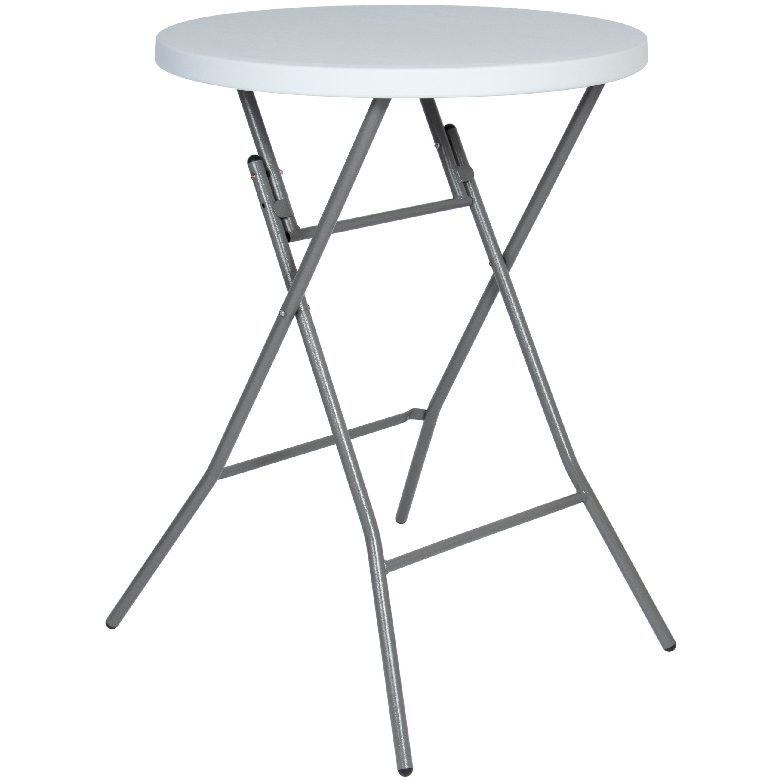 32in Indoor/Outdoor Folding Bar Table - White