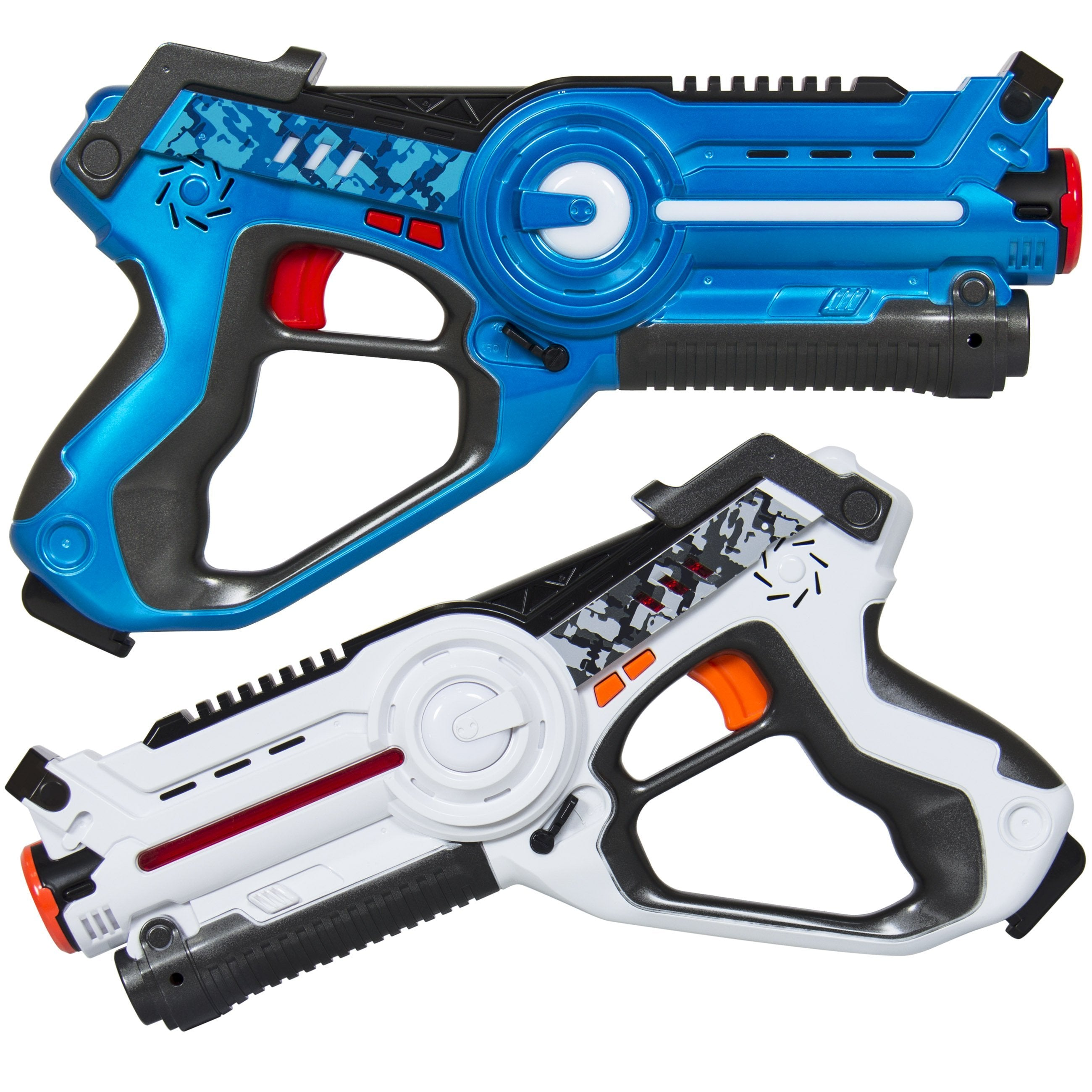 Set of 2 Infrared Laser Tag Blasters for Kids & Adults w/ 4 Settings