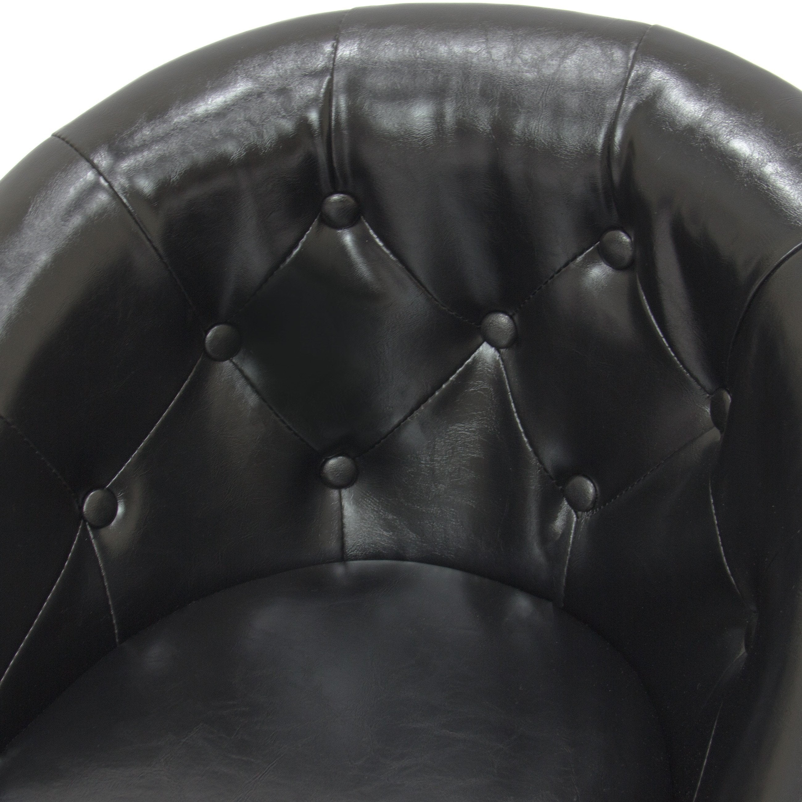 Adjustable Tufted Round Swivel Accent Chair