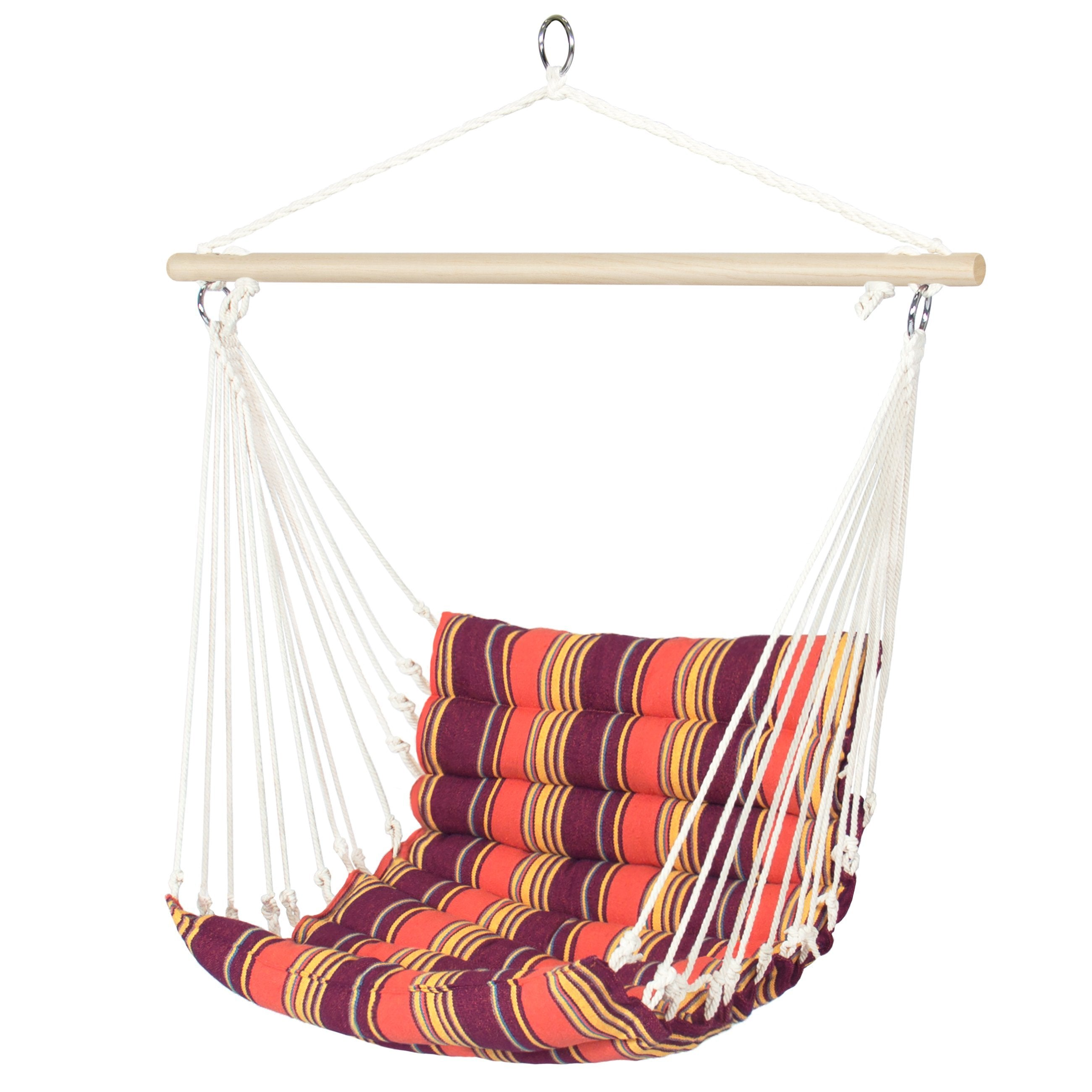 Padded Indoor/Outdoor Cotton Hammock Chair w/ 40in Spreader Bar