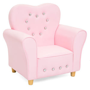 Kids Heart-Shaped Chair - Pink