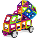 254-Piece Kids Magnetic Building Tiles Toy Set w/ Storage Box - Multicolor