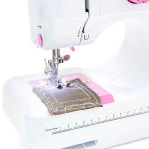 6V Compact Foot Pedal Sewing Machine w/ 12 Stitch Patterns