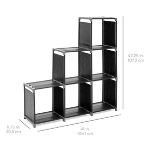 6-Drawer Multi-Purpose Cubby Storage Cabinet - Black