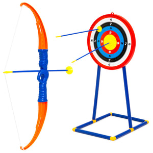 Kids Archery Bow and Arrow Toy Play Set w/ 3 Suction-Cup Arrows, Target