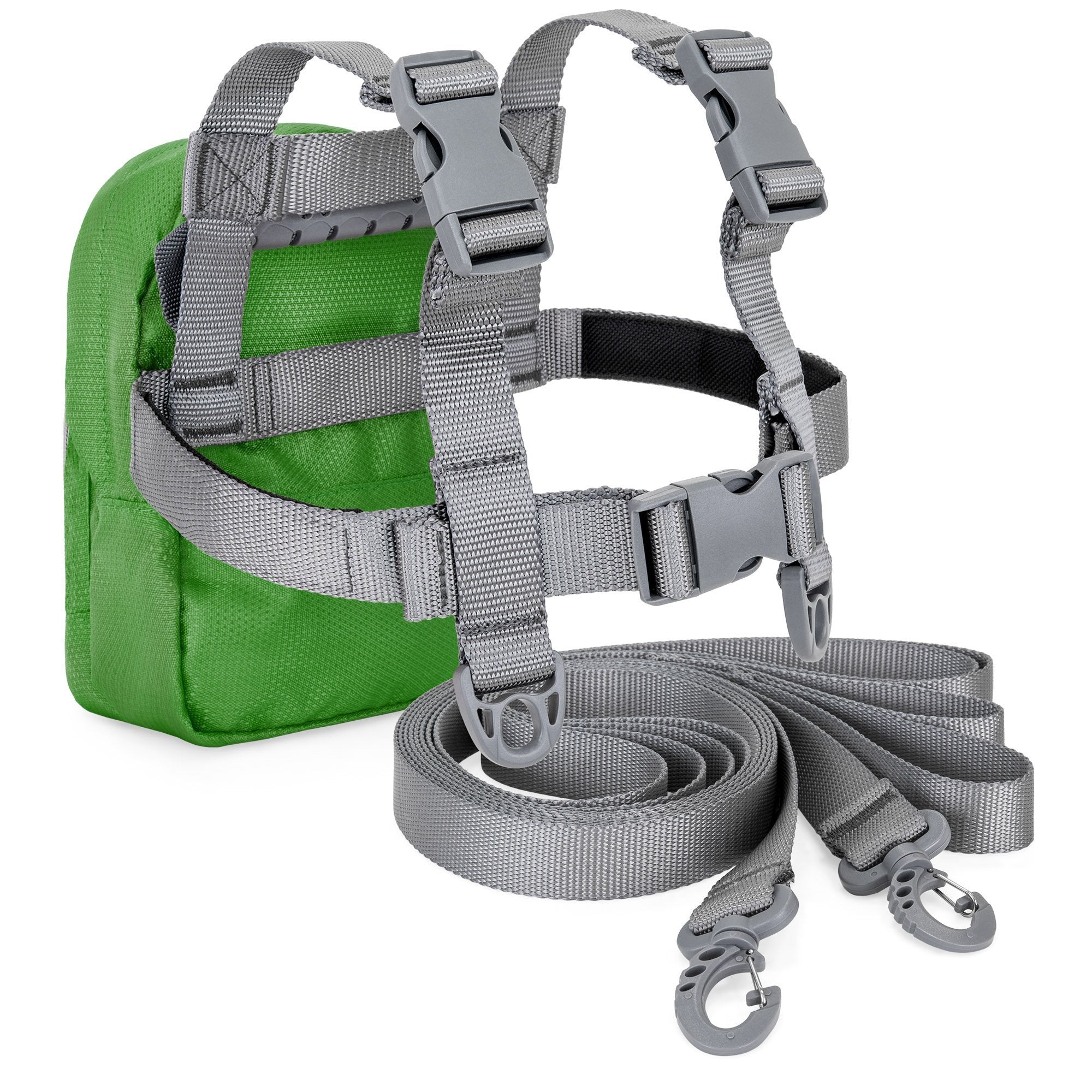 Kids Adjustable Ski Training Harness w/ Leashes, Backpack