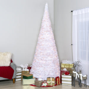 7.5ft Pre-Lit Pop-Up Artificial Christmas Tree w/ 450 Lights, Stand