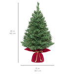 26in Pre-Lit Artificial Tabletop Christmas Tree w/ 35 White/Multi LED Lights