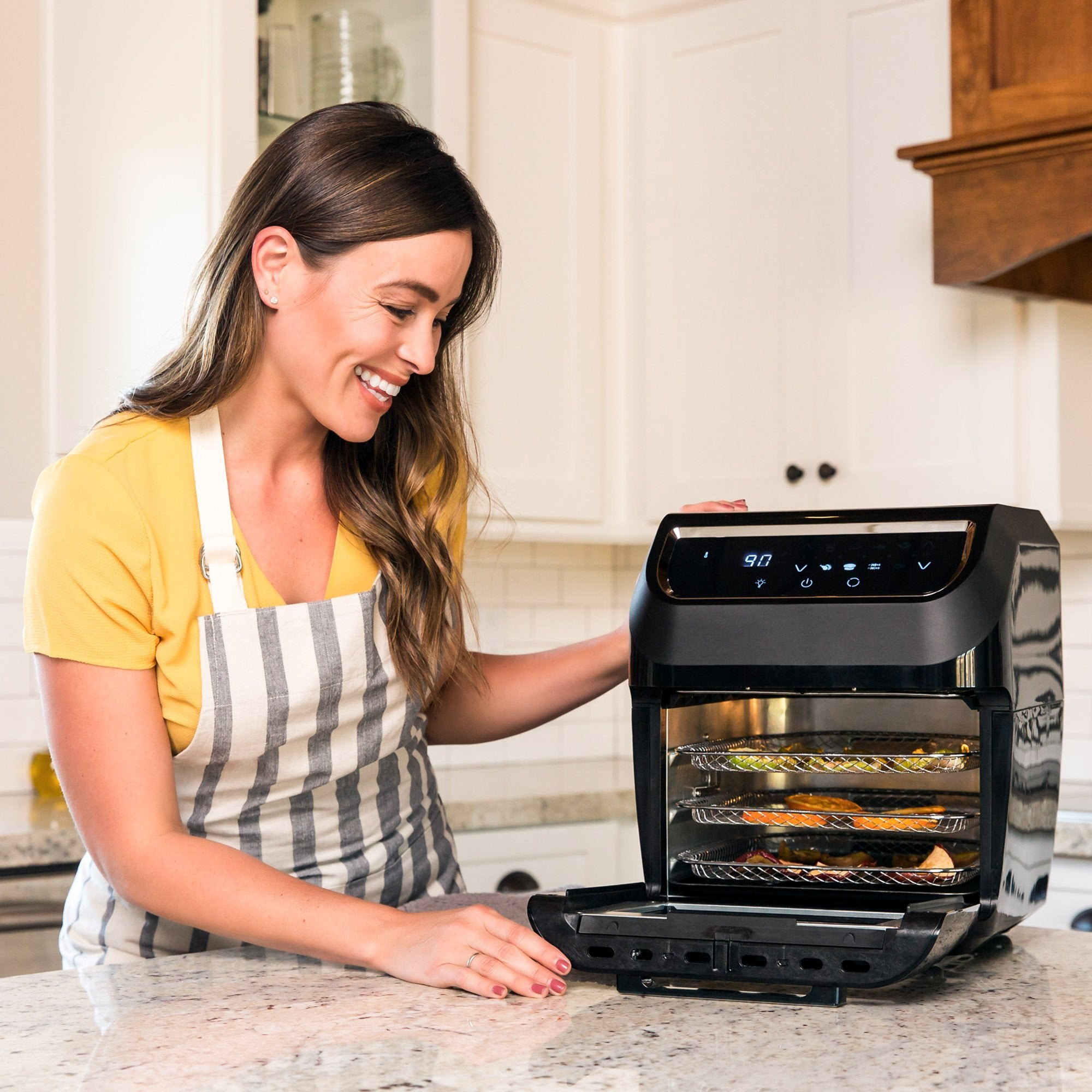 11.6qt 8-in-1 XL Air Fryer Oven, Rotisserie, Dehydrator Set w/ 8 Accessories
