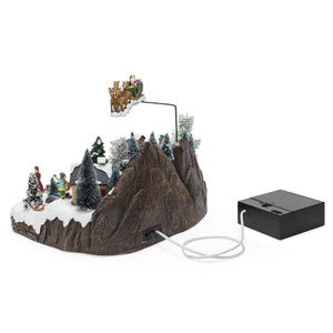 Animated Musical Pre-Lit Tabletop Christmas Village w/ Rotating Tree