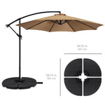 4-Piece Cantilever Offset Patio Umbrella Base Stand w/ Carry Handles