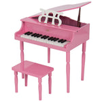 Kids Mini Wood Grand Piano Musical Instrument w/ Bench, Sheet Music Rack