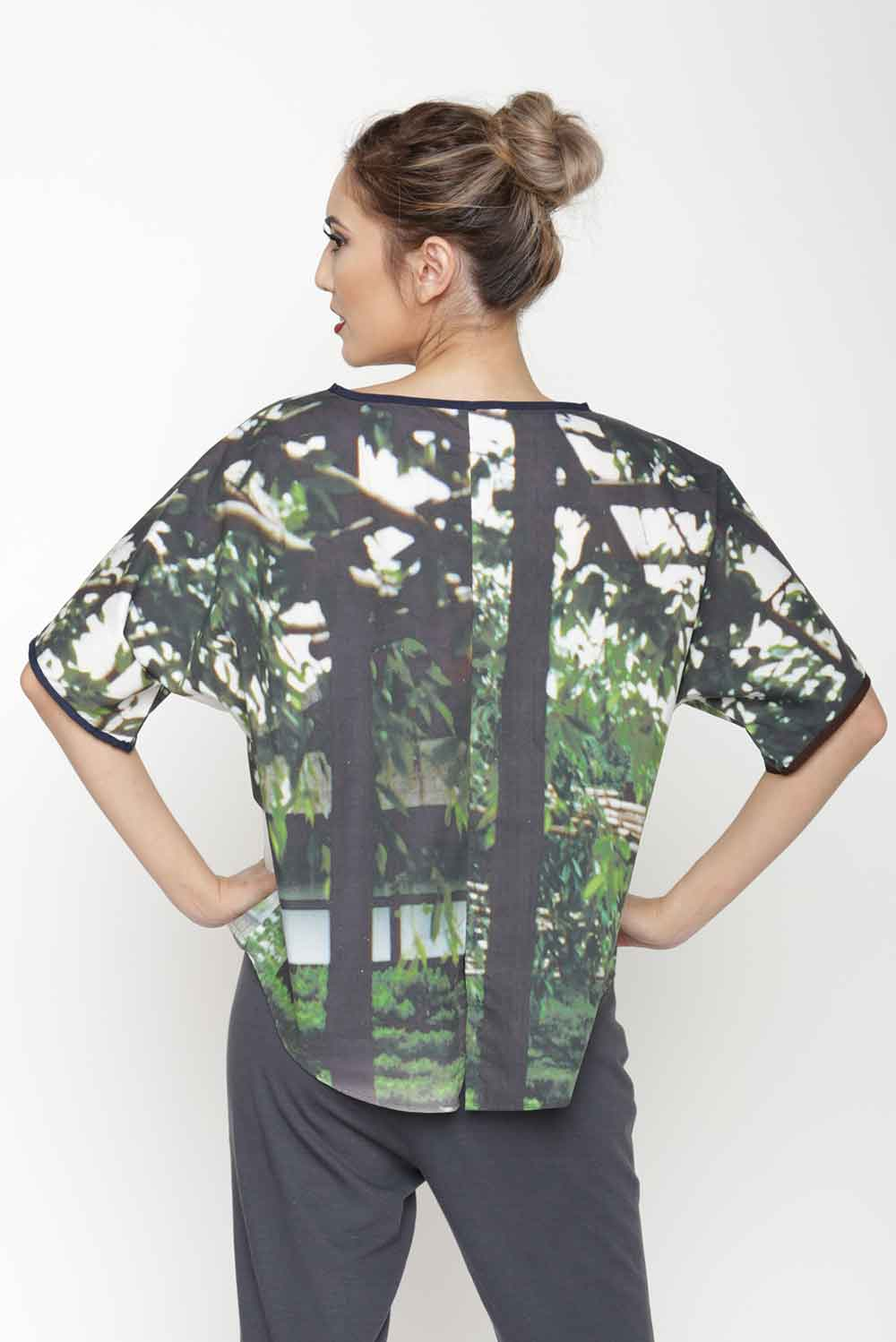 Digital Print Dolman Top
