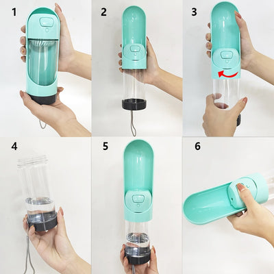 Portable Pet Drinking Bottle With Filter - American stock