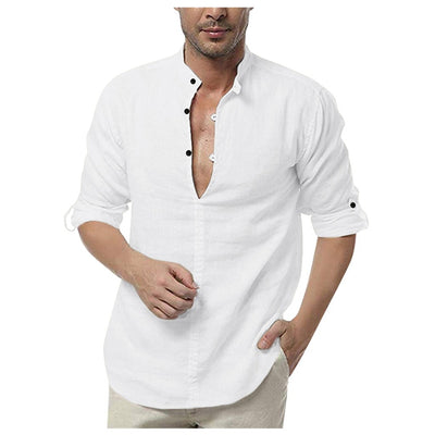 Men's Loose Solid Color Shirts - American stock