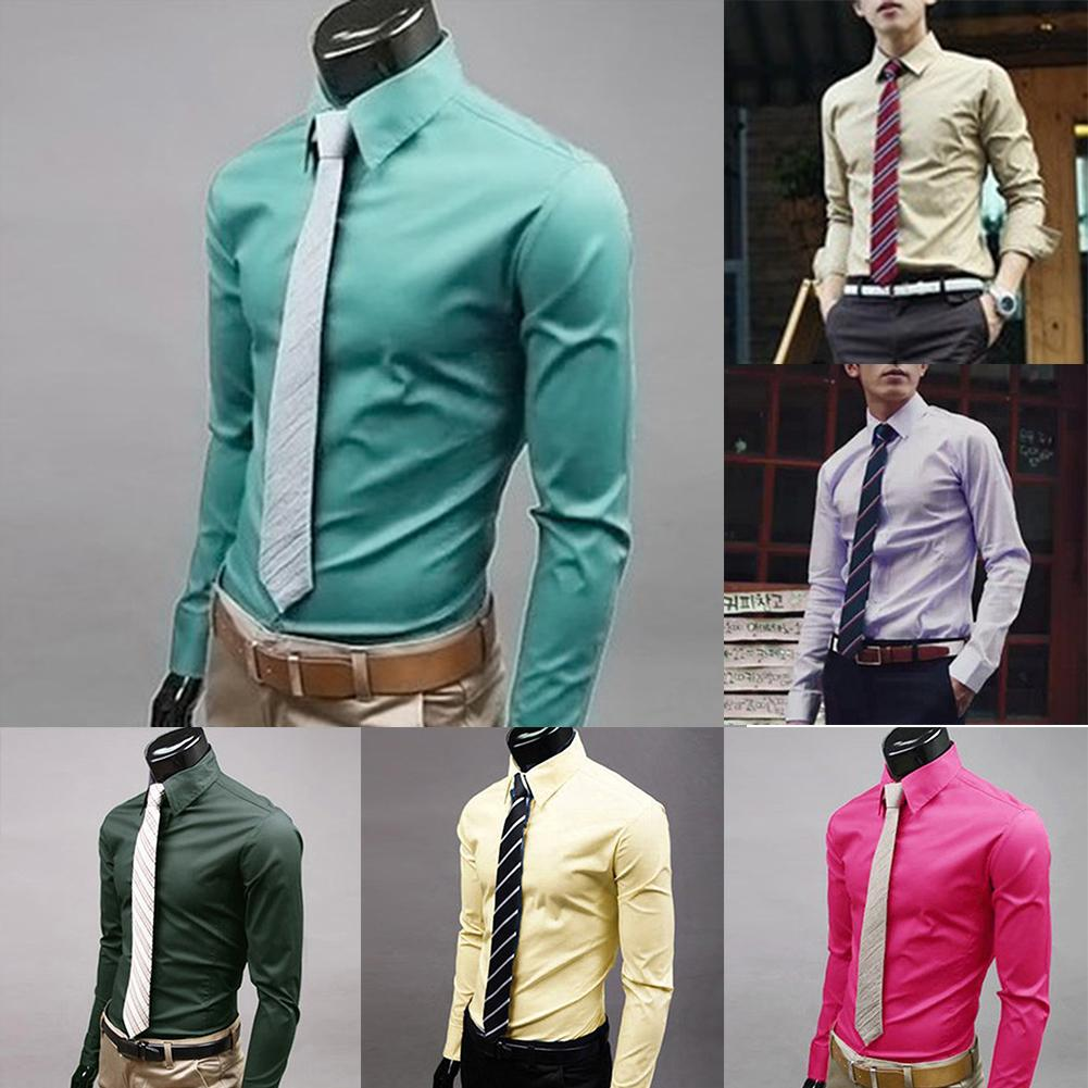 Fashion Casual Long Sleeved Slim Business Dress Shirt - American stock