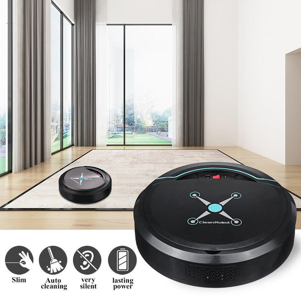 Automatic Cleaning Robot USB Rechargeable Smart Vacuum - American stock