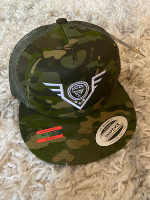 Catching Coalition Military Badge Hat - Tropical Camo