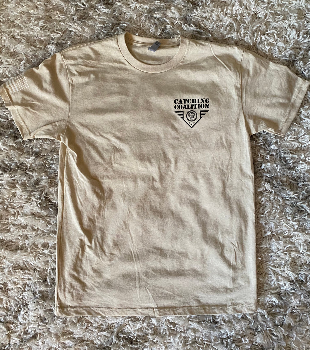 Catching Coalition Military Badge Tee - Sand Tan