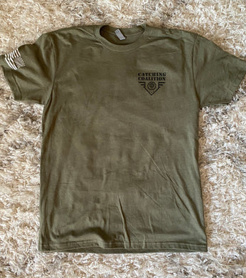 Catching Coalition Military Badge Tee - Army Green