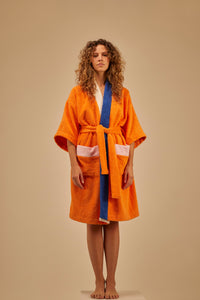 Bathrobe Home Orange