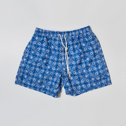 Blue Graphic Swim Shorts