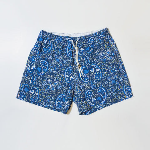 Dark Paisley Swim Shorts