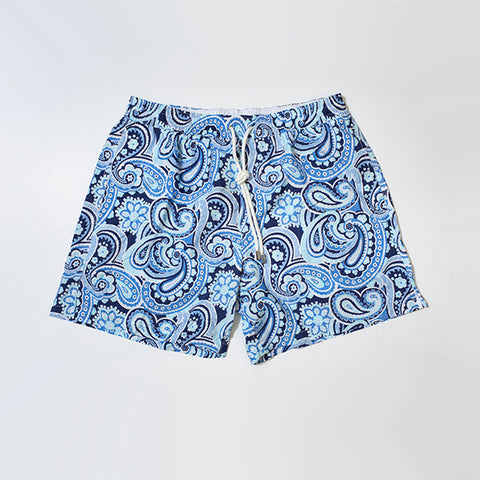 Light Paisley Swim Shorts