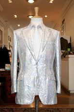Silver Sequin Suit