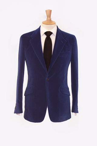 Royal Blue Velvet Sports Coat