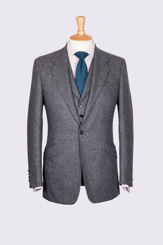 Grey Thornproof Tweed Three Piece Suit