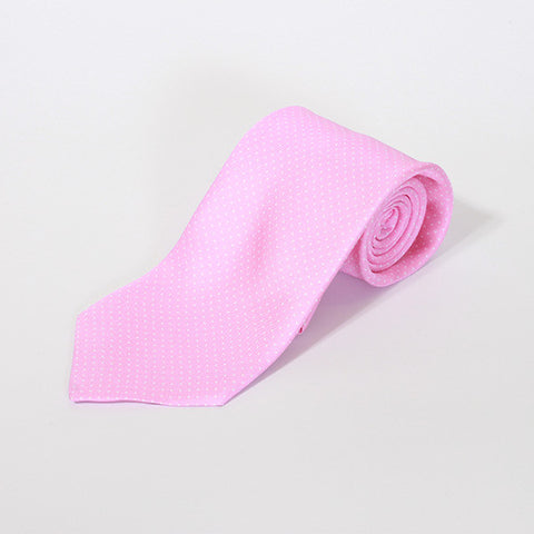 Pink Small Polka Dot Silk Tie