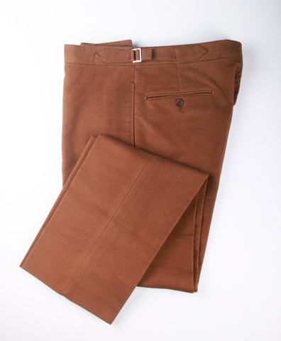 BROWN MOLESKIN TROUSERS