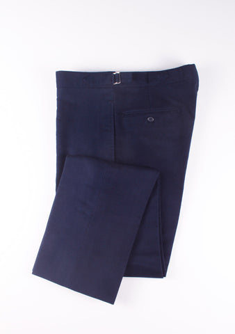 NAVY MOLESKIN TROUSERS