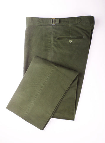 GREEN MOLESKIN TROUSERS