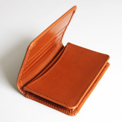 CARD WALLET TAN BRIDLE