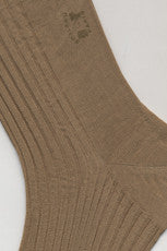 Long Pure Cotton Sock By Boileau France Natural