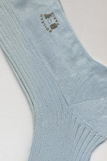 Long Pure Cotton Sock By Boileau France Sky