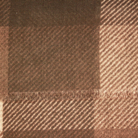 Brown Diagonal Wool Scarf
