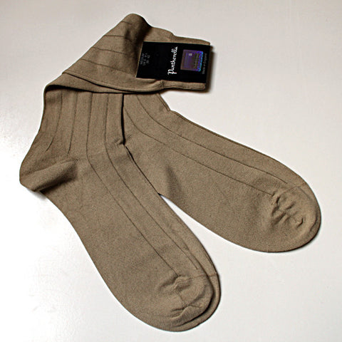 Sea Island Cotton Sock Mid Calf Natural