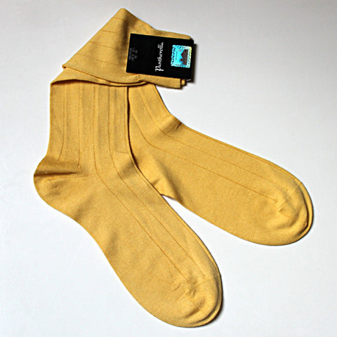 Sea Island  Cotton Sock Mid Calf Yellow